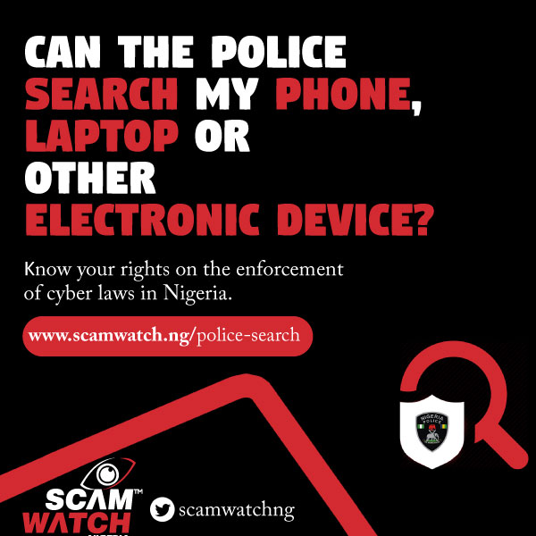 Can the police search my phone, laptop or other electronic device?