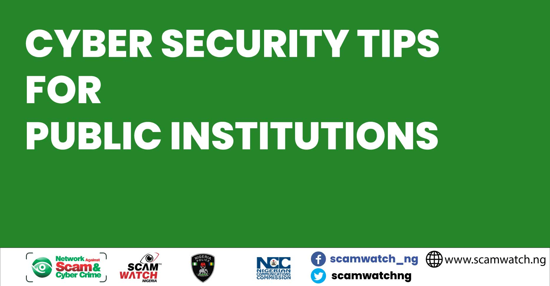 Cyber security awareness tips for public institutions