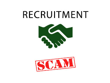 Recruitment scams