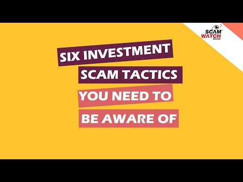 Six investment Scam Tactics you need to be aware of #BeScamSmart